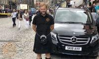 Tour guide Alexander on Royal Mile