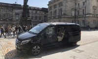 Mercedes V Class Minivan on Royal Mile