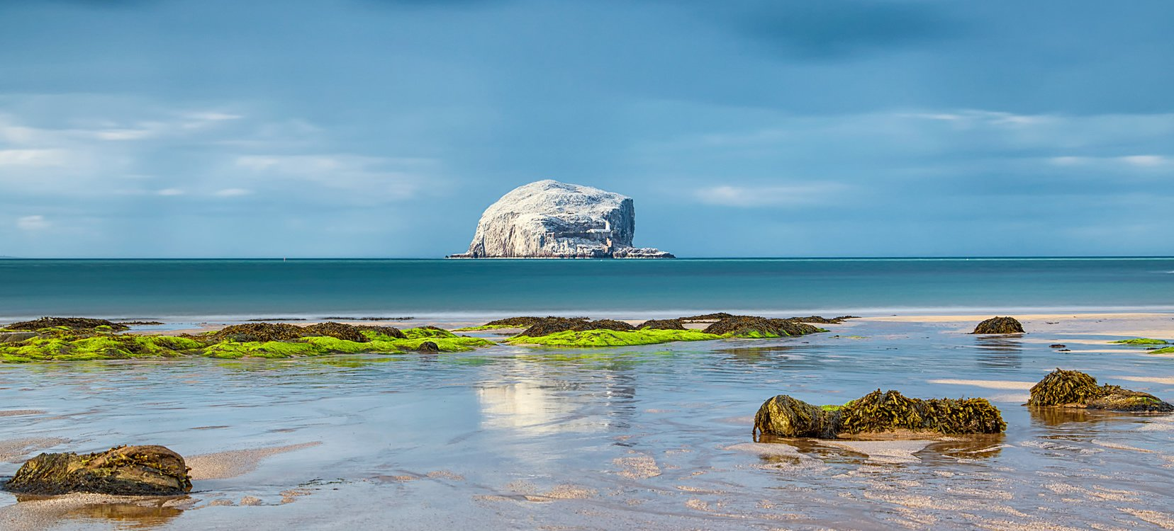 The Bass Rock Volcanic Plug in East Lothian